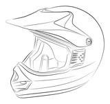 Fototapety Standart motocross helmet vector drawing