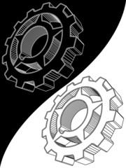 The scheme of a gear