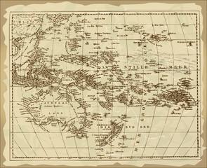 Old Australia Map