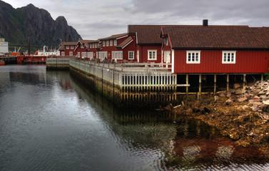 Holzhäuser in Scolvaer