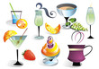 Cocktail set with fruits