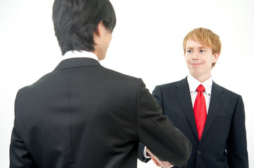 a businessperson shaking hands