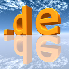 3D Top Level Domain von Deutschland