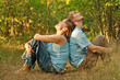 Young couple relaxed in nature