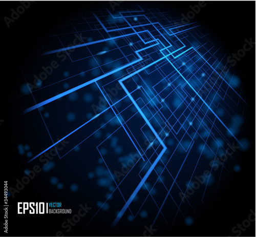 Blue abstract glowing background