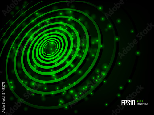 Green abstract glowing background