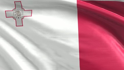 Nahtlos wehende Flagge Malta