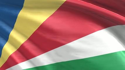 Nahtlos wehende Flagge Seychellen