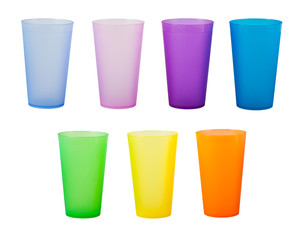 Plastic glass of various color