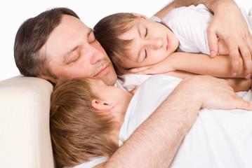 nice family sleeping
