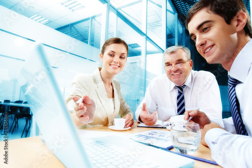 Meeting in office