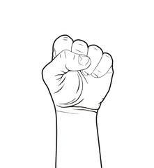 fist on white background