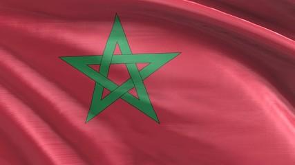Nahtlos wehende Flagge Marokko