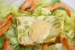 crevettes et pain de courgette