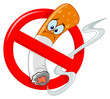 No smoking cartoon