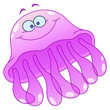 Cartoon jellyfish