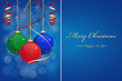 Christmas background with hanging balls