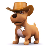 3d Dog is the sheriff of the town