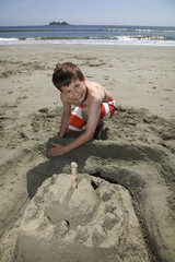 building a sandcastle