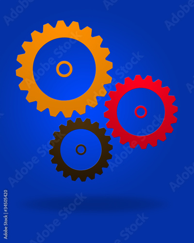 logo out of gears