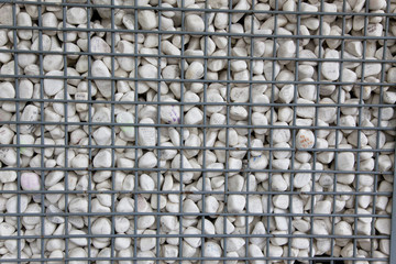 stone filled wall