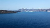 Santorini island view from ship