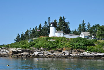 Burnt Island Lighthouse, Maine, USA