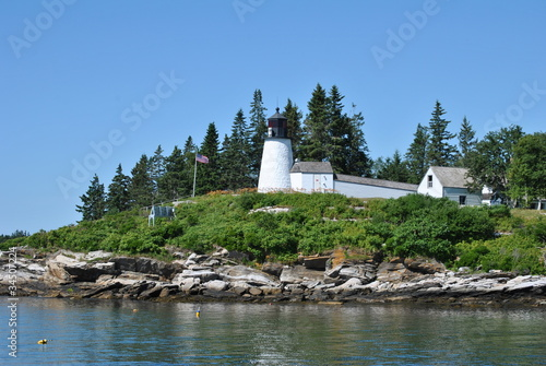 Burnt Island Lighthouse, Maine, USA