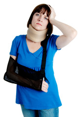 Woman with broken arm