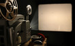 Leinwandbild Motiv Film Projector with Blank Frame