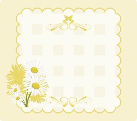 Papel convite com margaridas