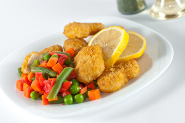 Chicken with side-dish