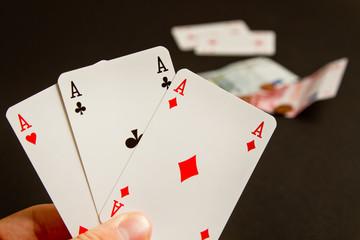 Poker card money