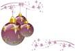 Baumdeko weihnachten lila
