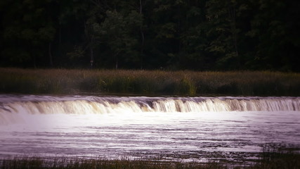 HD - waterfall on the river_scene2