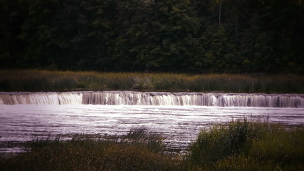 HD - waterfall on the river_scene1