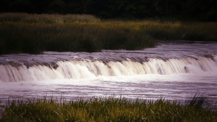 HD - waterfall on the river_scene3