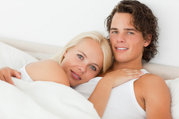 Couple in their bed