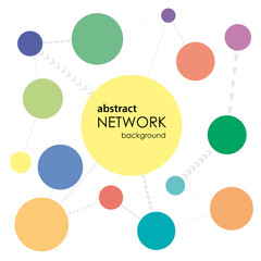Abstract Network Background # Vector