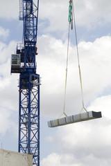Crane Lifting Building Materials