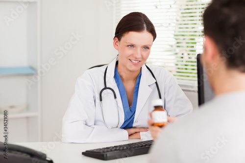 Female doctor and patient in office