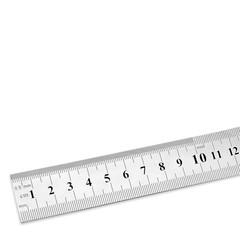 steel ruler with copy space
