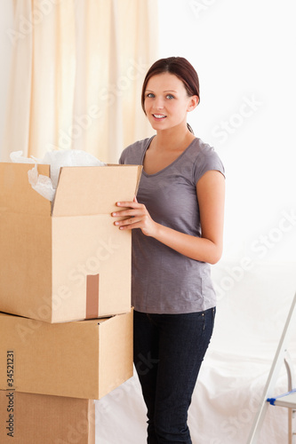 Female packing cardboard
