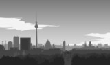Fototapety Berlin-Skyline, Illustration