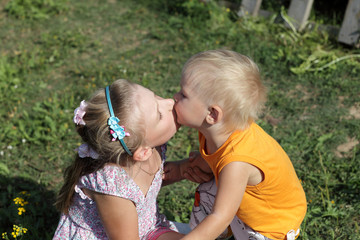 Kissing siblings