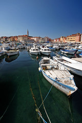 Fishing boats in port of Rovinj