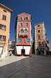 Narrow medival streets in Rovinj
