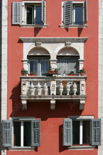 Romantic balcony on the medival building