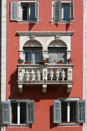 Romantic balcony on the medival building