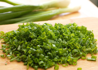 Sliced ​​green onions